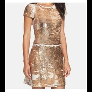 Vince Camuto is champagne see Quinn shift dress 6